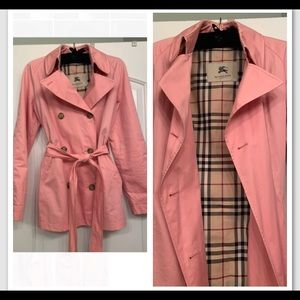 Vintage Pink BURBERRY trench coat